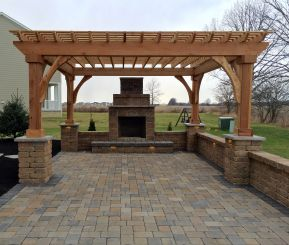 paver patio with pergola. Pergolas, Pavilions, Arbors 2 Paver Patio With Pergola